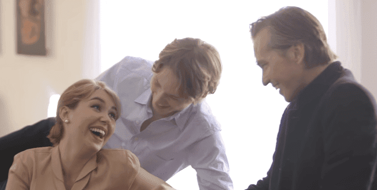 Jack, Mercedes, and Val Kilmer. | Source: YouTube/The Hollywood Reporter