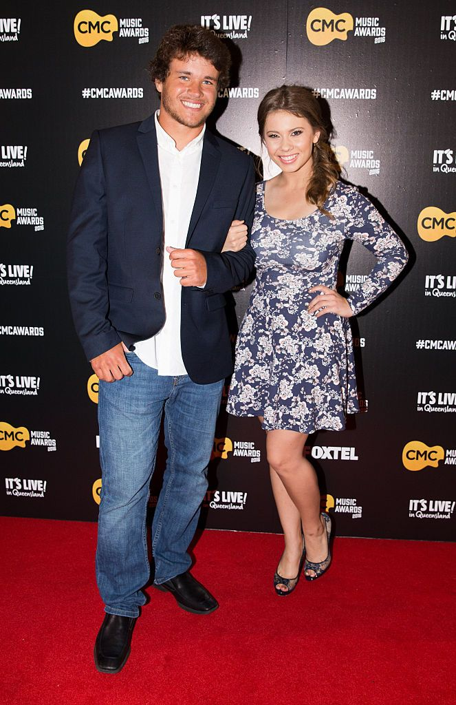 Chandler Powell and Bindi Irwin walk the red carpet at the Country Music Channel Awards held at the Queensland Performing Arts Centre on March 10, 2016, in Brisbane, Australia   Photo: Getty Images