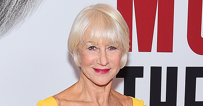 Helen Mirren of 'Prime Suspect' Looks Elegant in Yellow Fitted Gown with a Train
