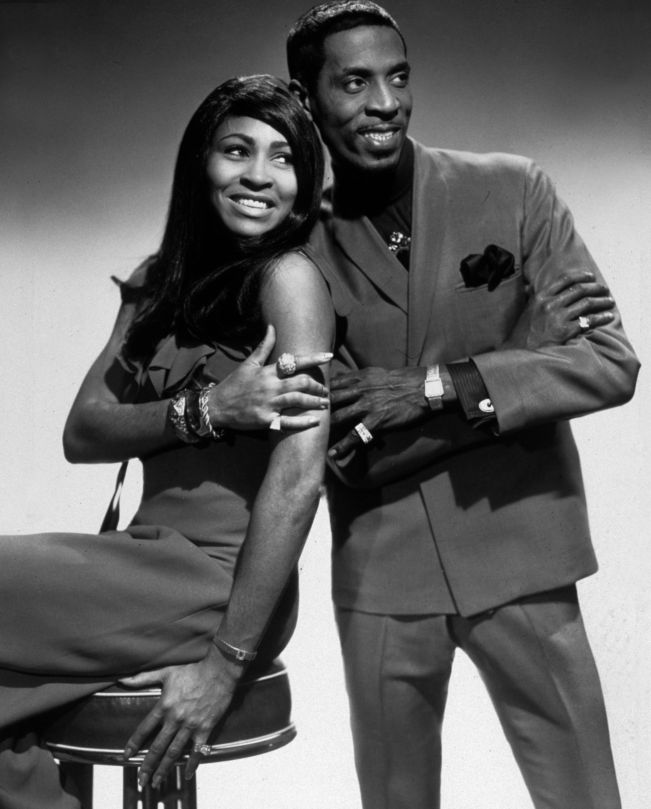 Ike Turner and his wife Tina Turner in 1965. | Source: Getty Images.