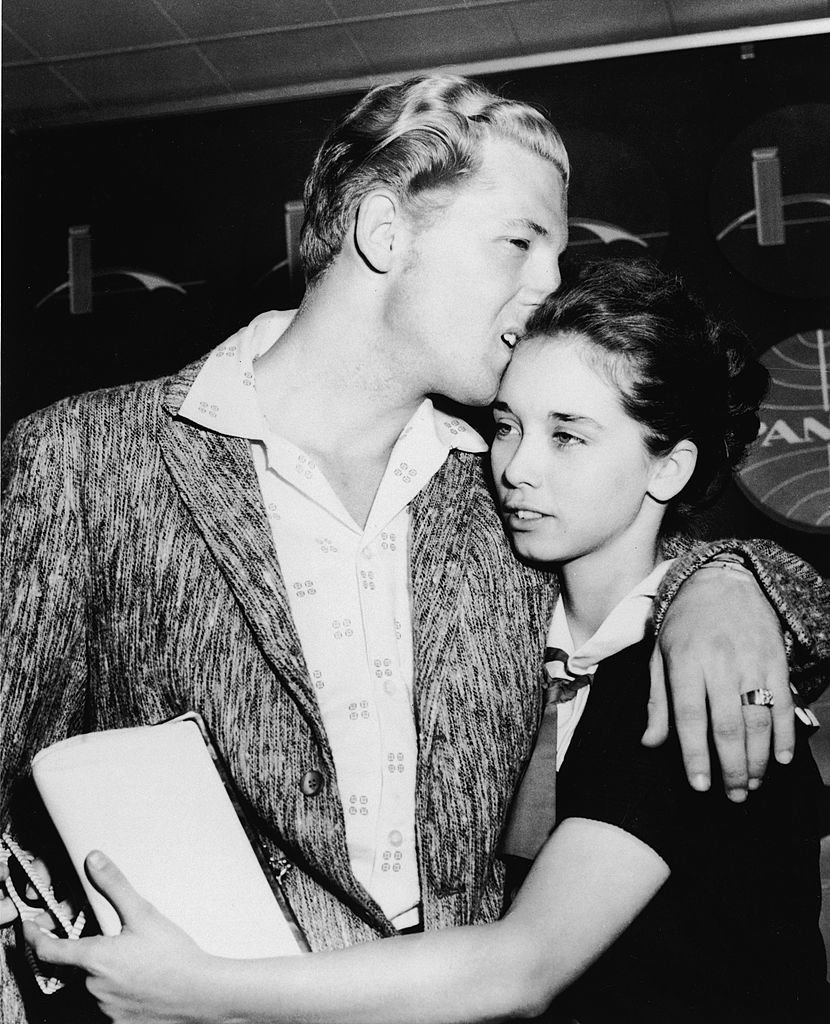 Jerry Lee and his young bride Myra | Getty Images