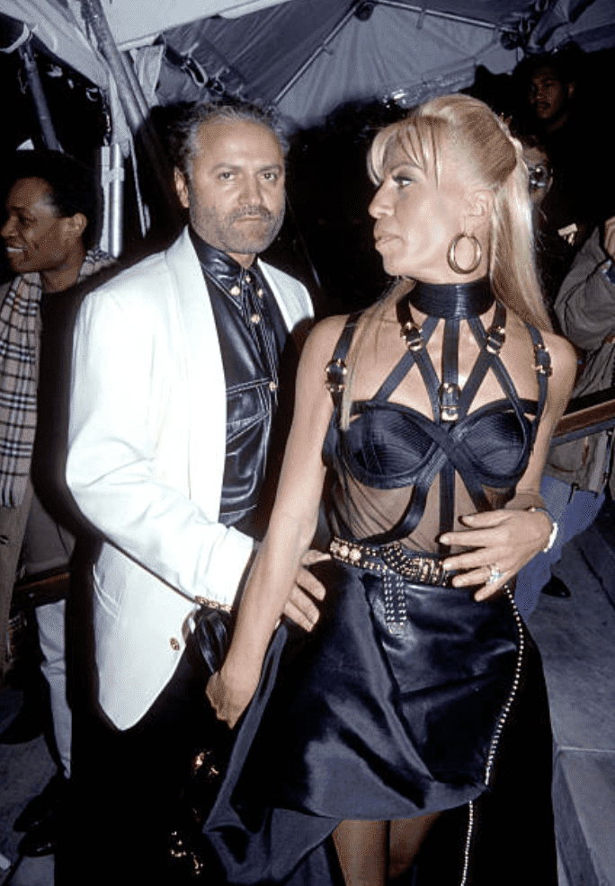 Gianni Versace and Donatella Versace at the Vogue Magazine 100th Anniversary in 1993, New York | Source: Getty Images
