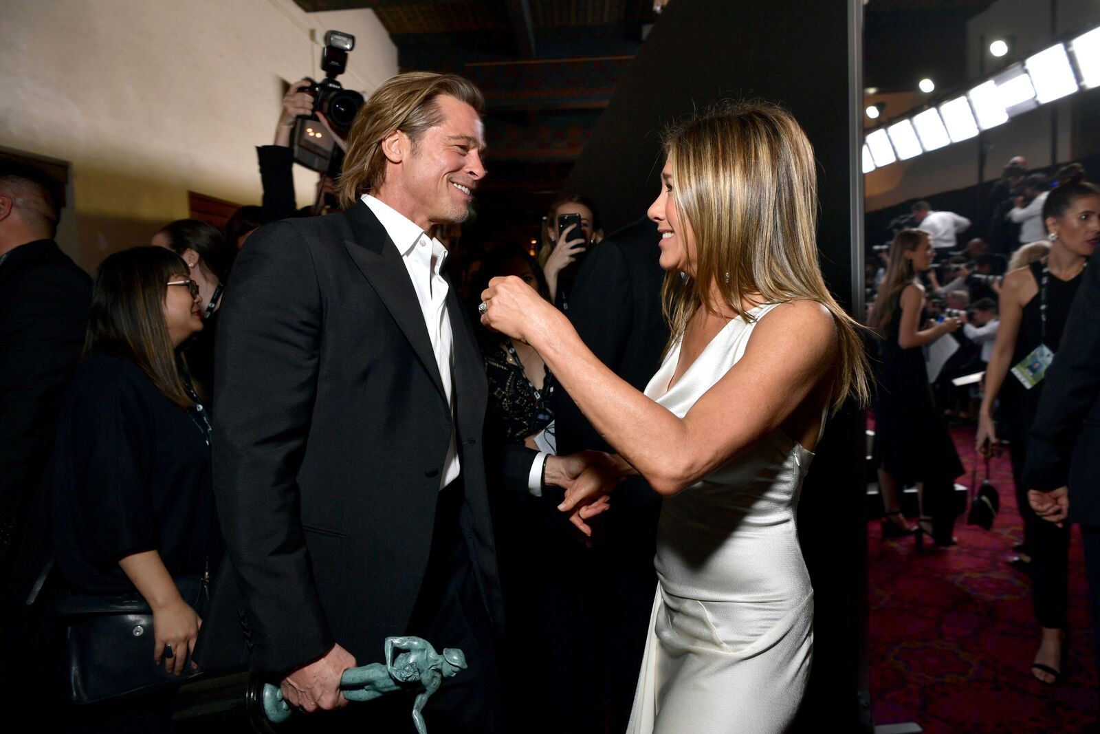 Brad Pitt und Jennifer Aniston, 2020 | Quelle: Getty Images