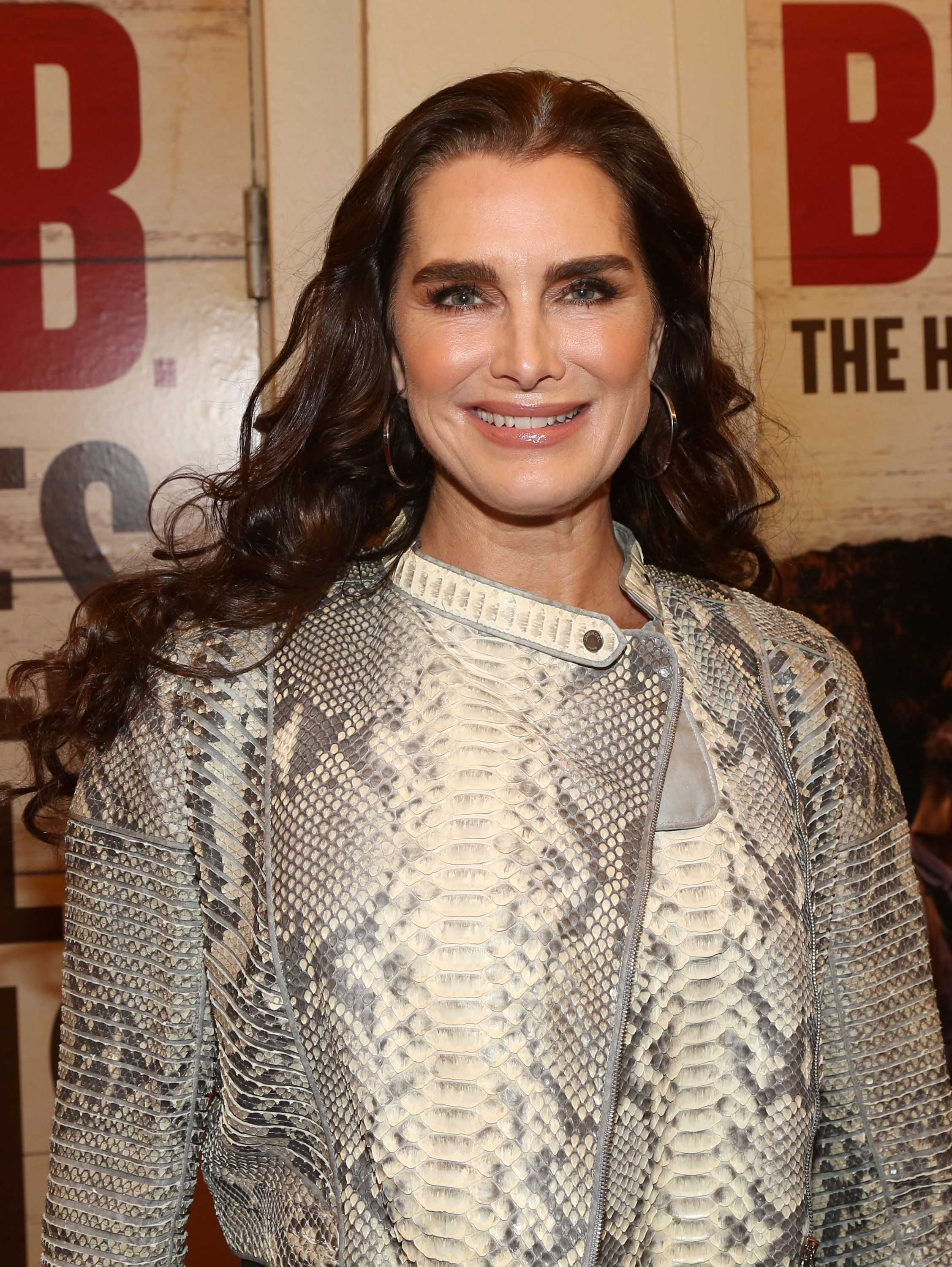 """Brooke Shields poses at the opening night of the new Bob Dylan Musical """"Girl From The North Country"""" on Broadway at The Belasco Theatre on March 5, 2020   Photo: Getty Images"""