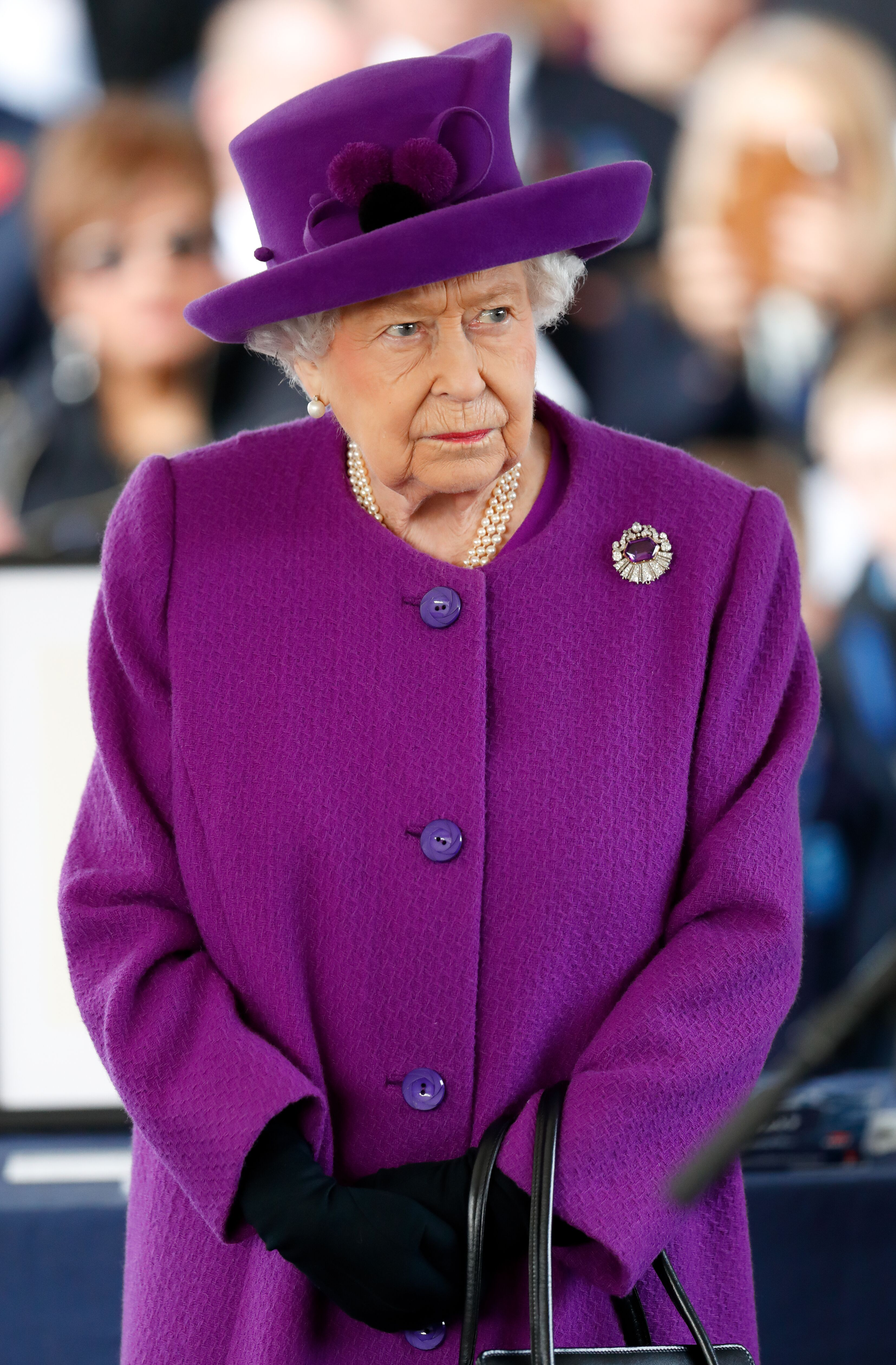 Queen Elizabeth II visits the Royal British Legion Industries village to celebrate the charity's centenary year on November 6, 2019 in Aylesford, England.   Source: Getty Images