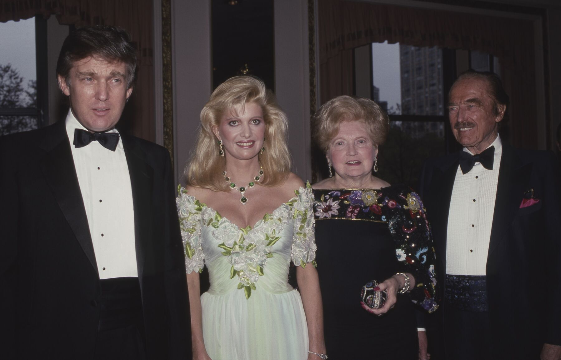 Donald and Ivana Trump at a Gala in New York in 1982 ! Source: Getty Images