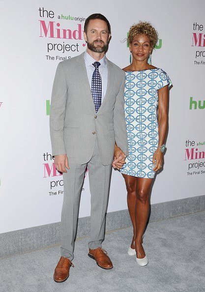"""Garret Dillahunt and actress Michelle Hurd at """"The Mindy Project"""" final season premiere on September 12, 2017 