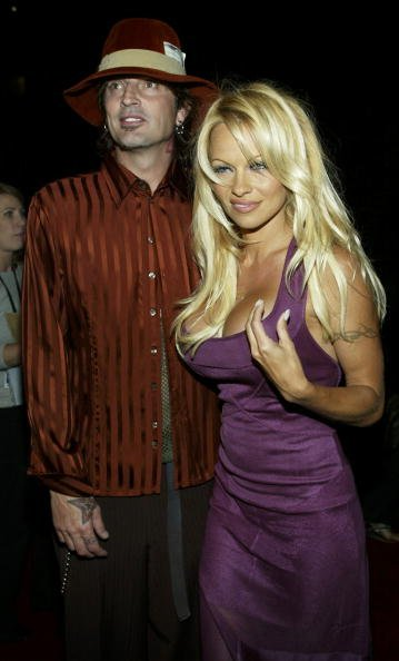 "Tommy Lee and  Pamela Anderson attend the film premiere of ""Scary Movie 3"" at the AMC Theatres Avco Cinema on October 20, 2003 