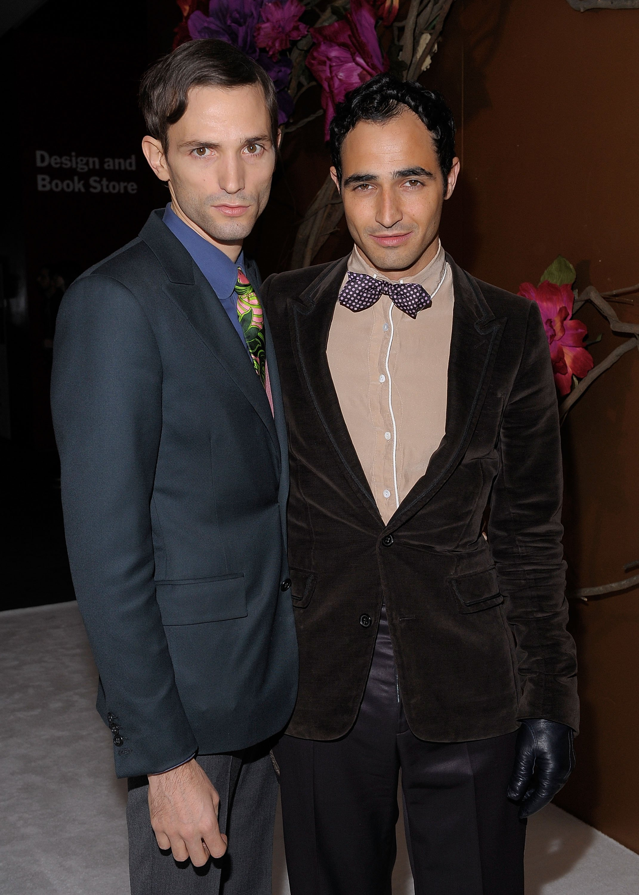 Zac Posen (Right) and Christopher Niquet attend the MoMA's Second Annual Film Benefit, Honoring Tim Burton at the MOMA on November 17, 2009, in New York. | Source: Getty Images.