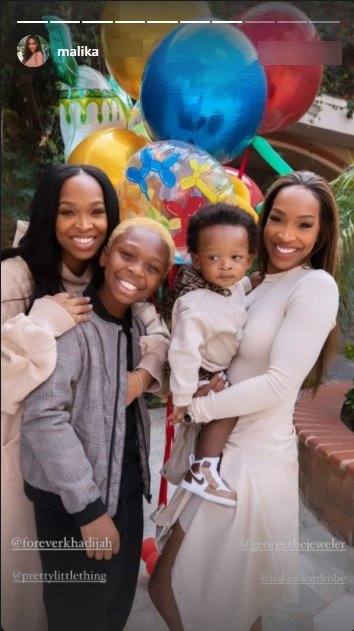Malika Haqq in a photo with her sister Khadijah Haqq and their sons, Ace and Christian. | Photo: Instagram/malika