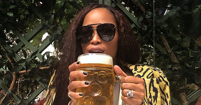 Eve's Millionaire Husband Maximillion Proudly Shares Pic of Her Drinking Beer in Leopard Jacket