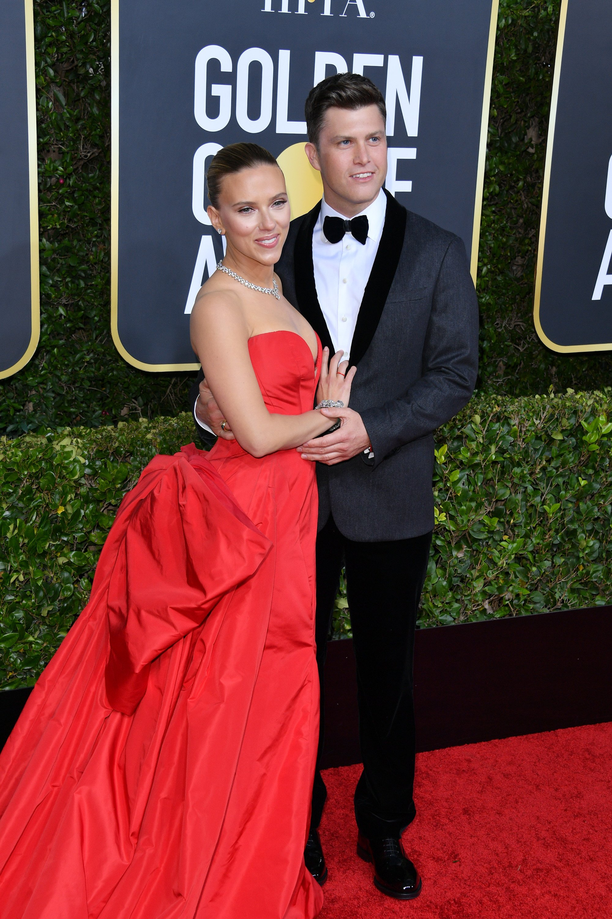 Scarlett Johansson and Colin Jost attend the 77th Annual Golden Globe Awards at The Beverly Hilton Hotel on January 05, 2020 in Beverly Hills, California | Photo: Getty Images