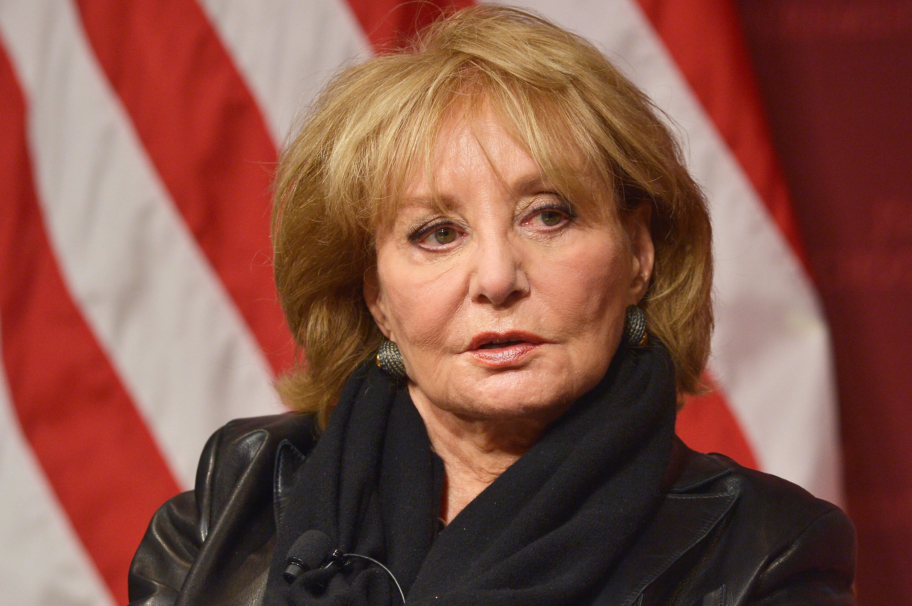 "Barbara Walters spricht im Rahmen des ""The John F. Kennedy Jr. Forum presents An Evening with Barbara Walters"" an der Harvard University am 7. Oktober 2014 