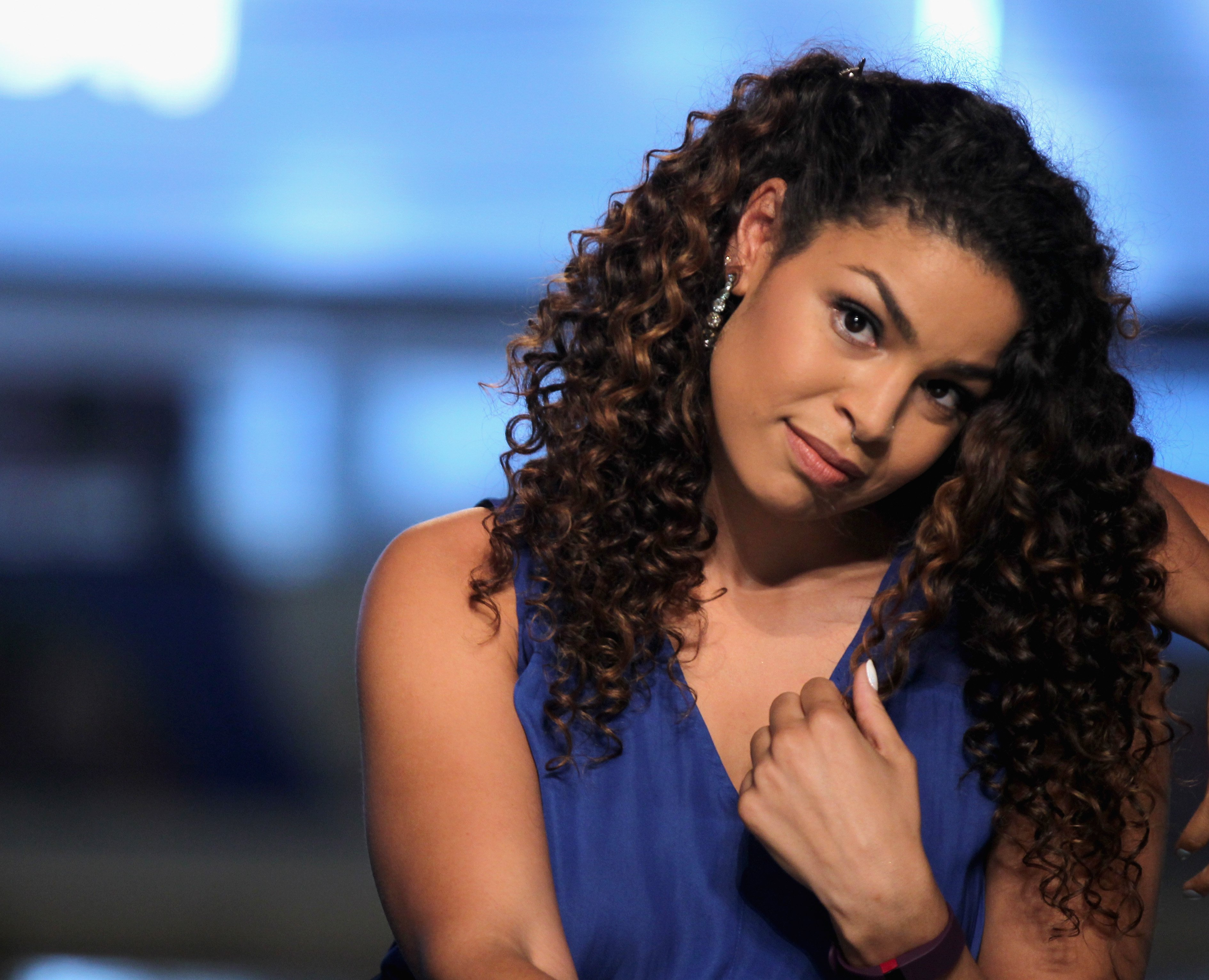 Jordin Sparks at Fashion Show Las Vegas on August 15, 2015 in Las Vegas, Nevada.  Source: Getty Images