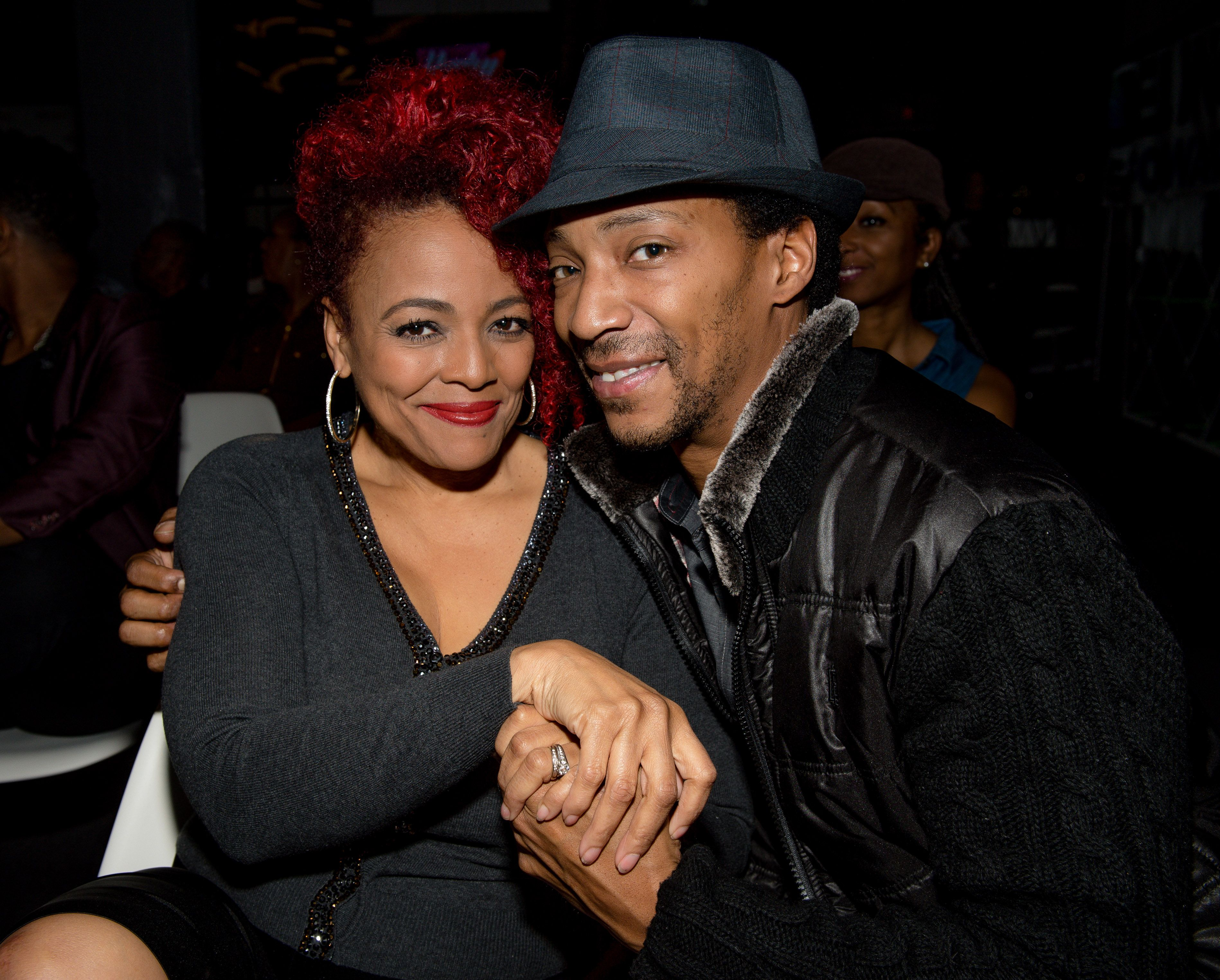 """Actress Kim Fields and husband Chris Morgan at the Willie Moore Jr.'s """"Happily After All"""" Book Release Celebration at The Gathering Spot on February 16, 2017 