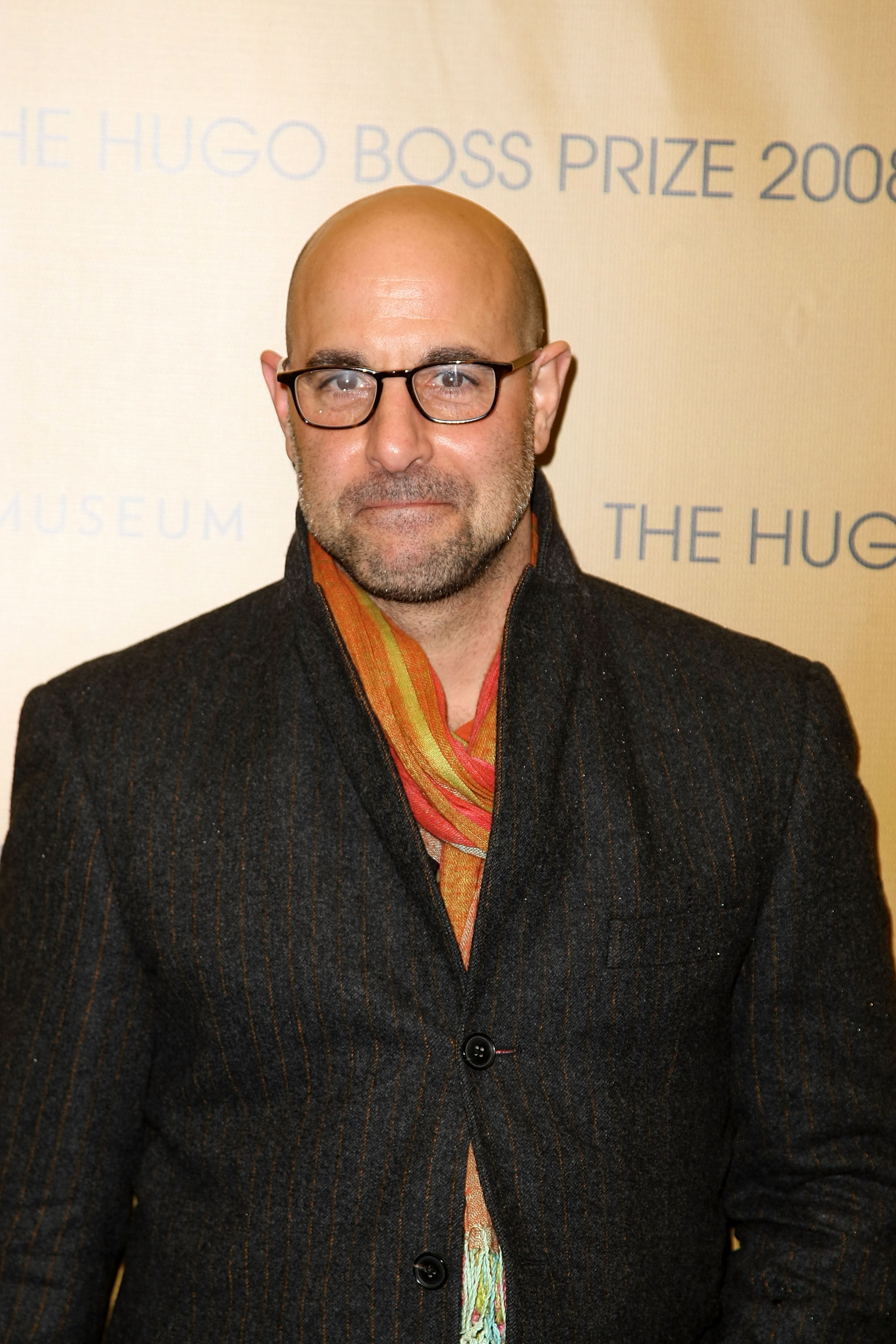 Stanley Tucci kommt am 13. November 2008 beim Hugo Boss Prize 2008 im Solomon R. Guggenheim Museum in New York City an. | Quelle: Getty Images