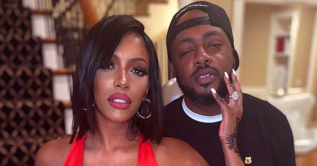 Porsha Williams Stands Out in a Tight Red Dress in Pictures with Fiancé Dennis McKinley
