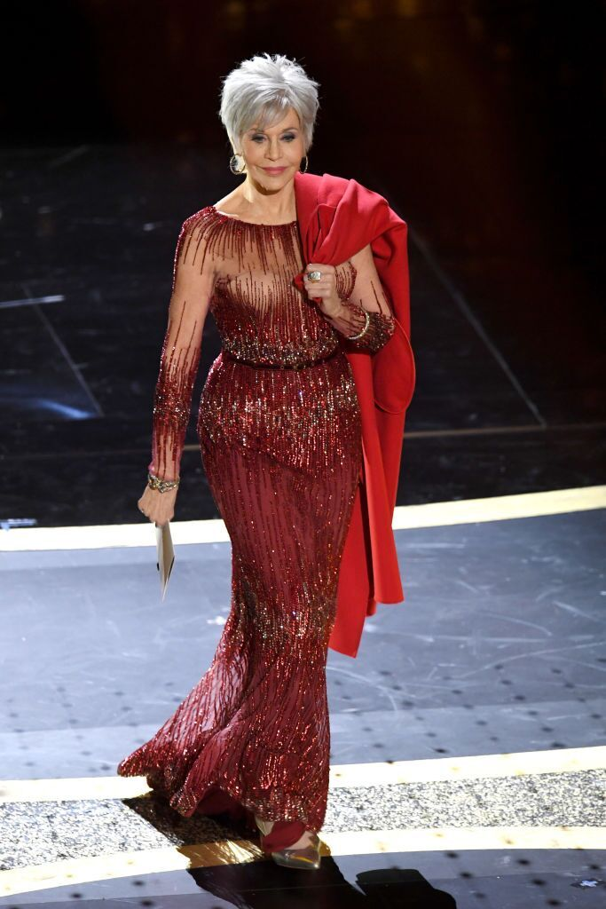 Jane Fonda speaks onstage during the 92nd Annual Academy Awards at Dolby Theatre on February 09, 2020   Photo: Getty Images