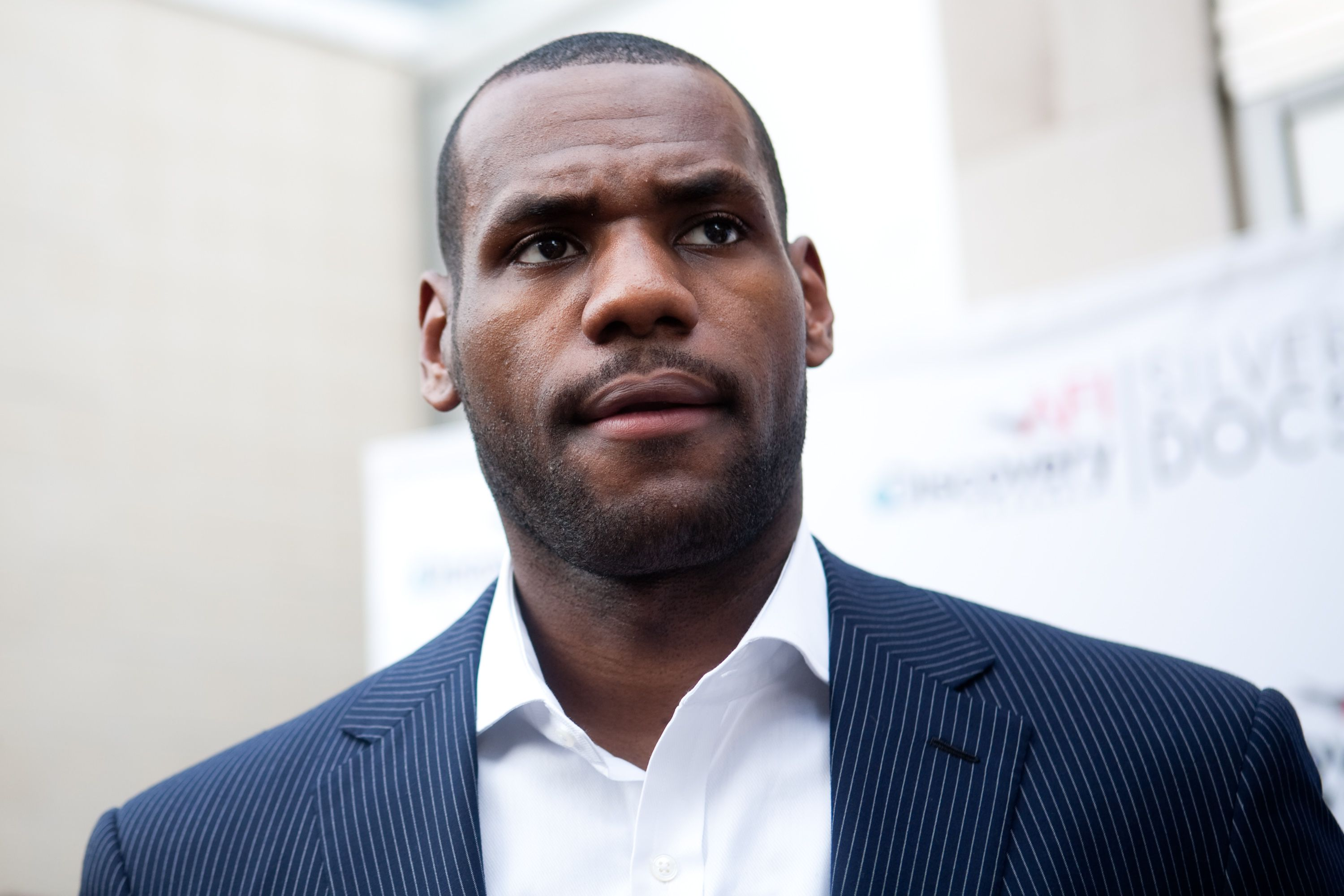 """LeBron James at the US premiere of the feature film """"More Than A Game"""" in Silver Spring on June 15, 2009. 
