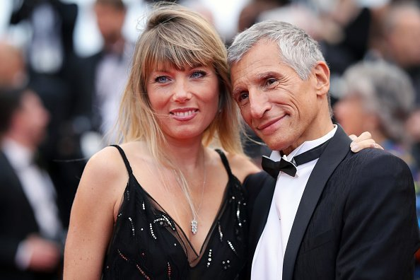 "Nagui Fam et son épouse Mélanie Page assistent à la projection de ""Pain And Glory (Dolor Y Gloria/Douleur Et Gloire)"" au 72ème Festival de Cannes à Cannes. 
