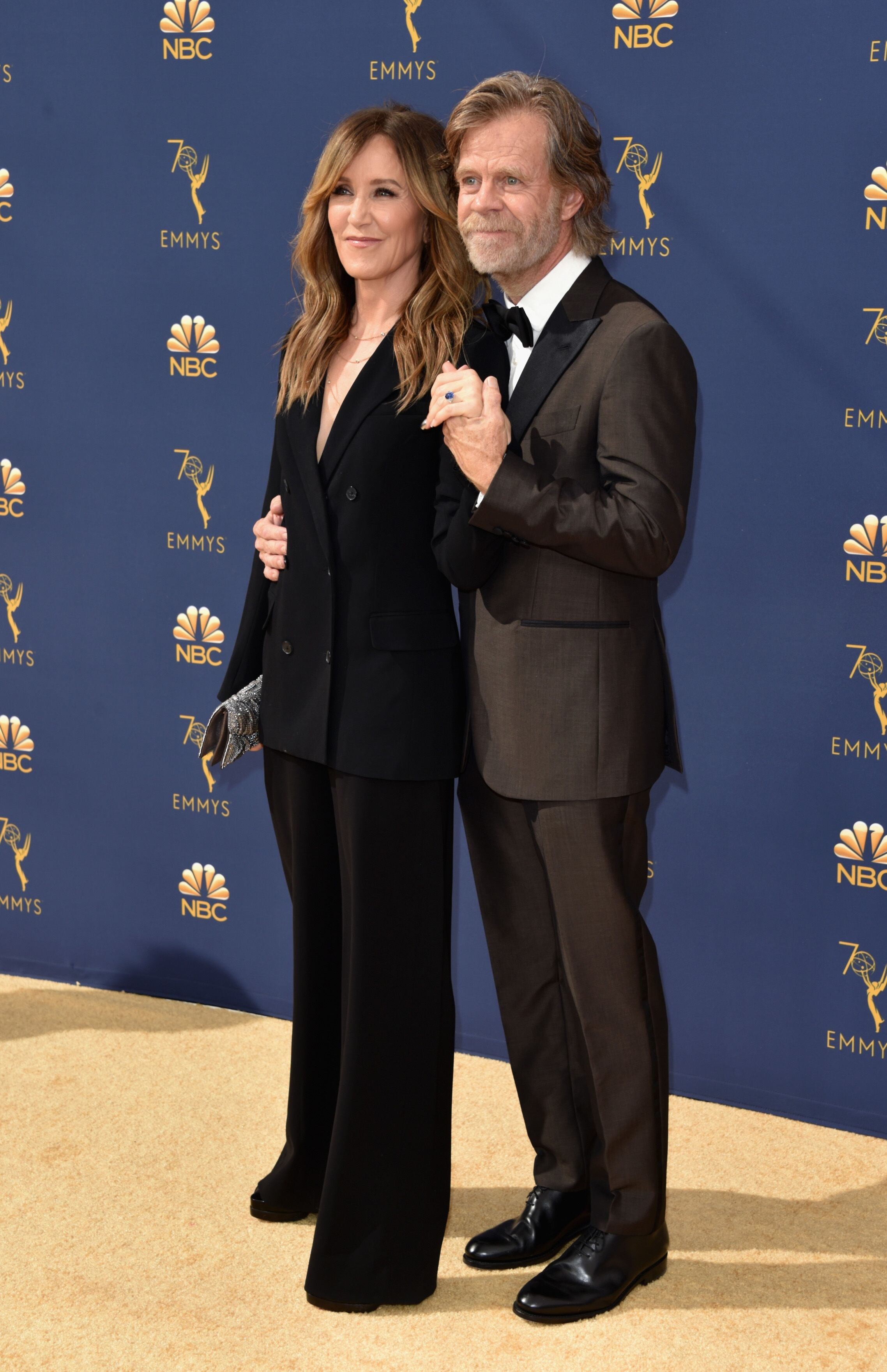 Felicity Huffman and William H. Macy at the 70th Emmy Awards on September 17, 2018, in Los Angeles, California | Photo: John Shearer/Getty Images