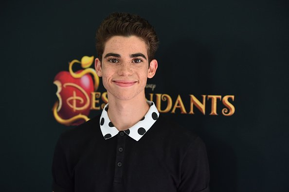 "Cameron Boyce attends the premiere of Disney Channel's ""Descendants"" at Walt Disney Studios in Burbank, California 