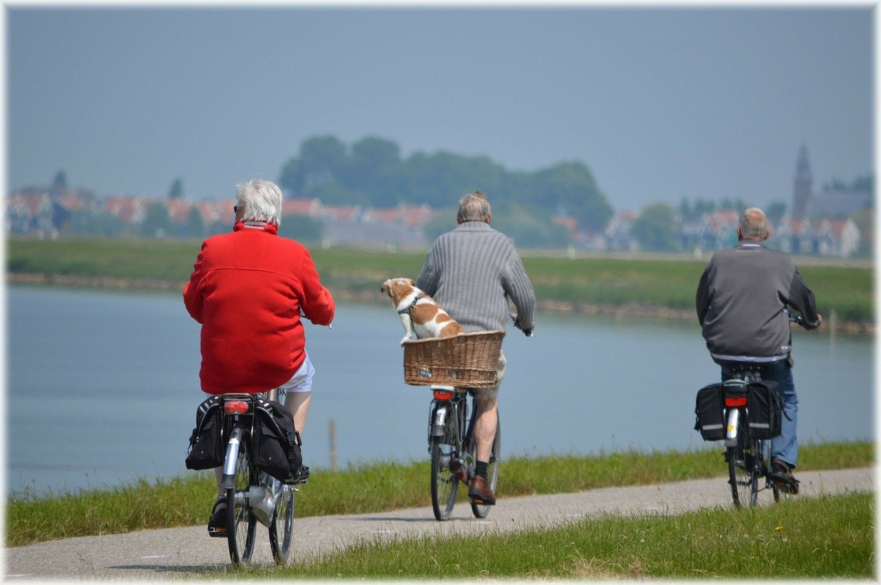 Pictured - Three old men riding bikes   Source: Pixabay