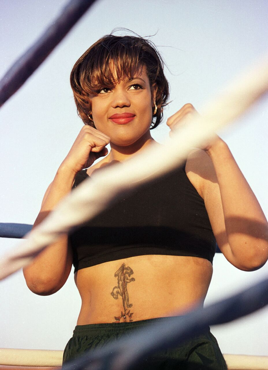 Freeda Foreman in the ring. | Source: Getty
