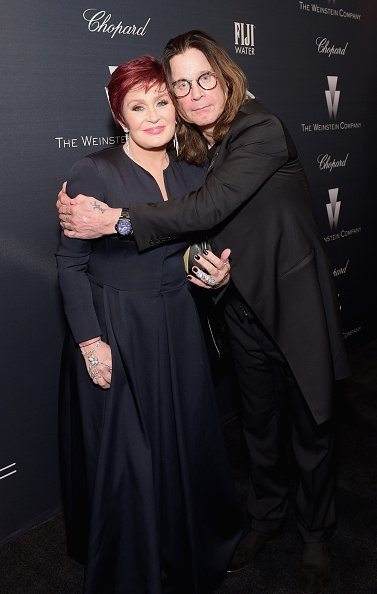 Sharon Osbourne and Ozzy Osbourne at The Weinstein Company's Academy Awards Nominees Dinner in partnership with Chopard, DeLeon Tequila, FIJI Water and MAC Cosmetics on February 21, 2015 in Los Angeles, California | Photo: Getty Images
