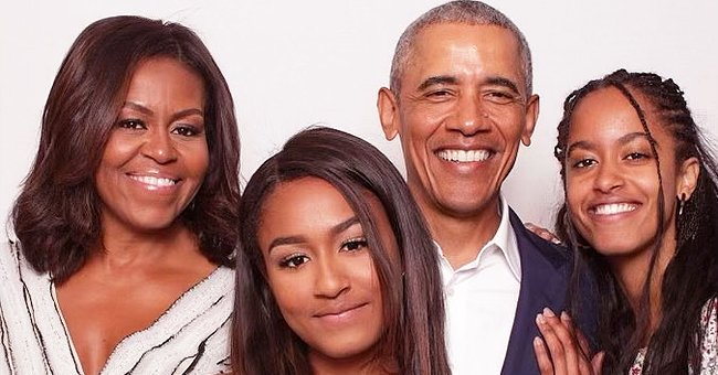 Barack Obama Celebrates Valentine's Day with Sweet Snap Featuring Wife Michelle and Daughters
