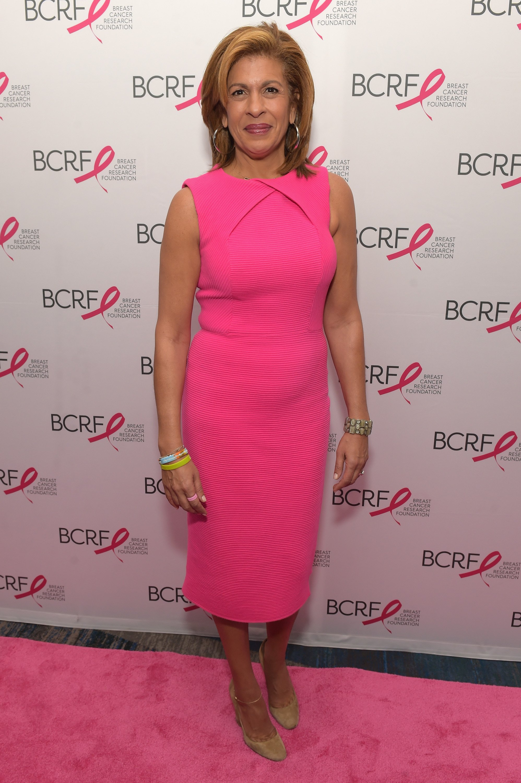 Hoda Kotb attends a pink carpet event in New York City on October 19, 2017 | Source: Getty Images