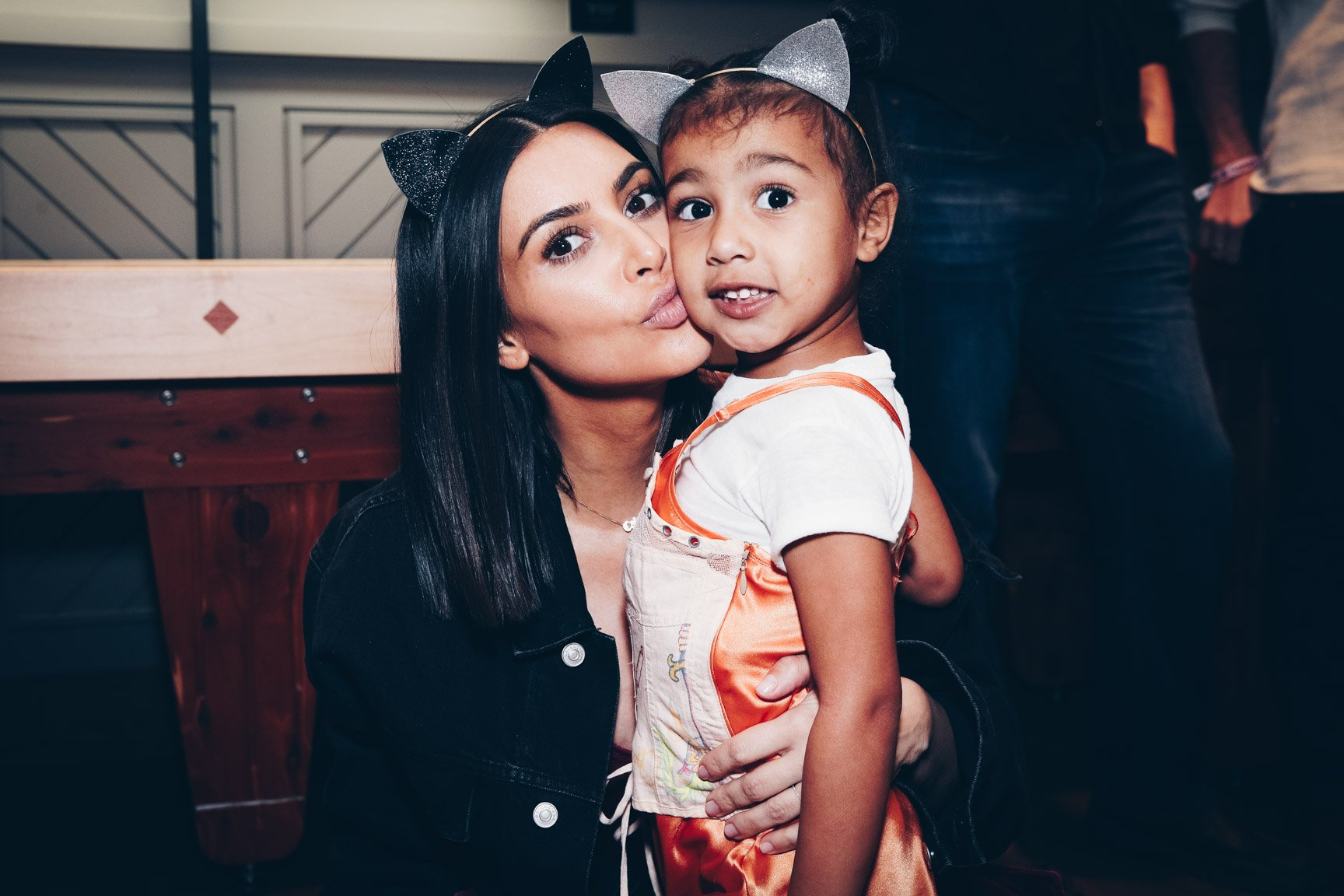 """Kim Kardashian And North West at Ariana Grande's """"Dangerous Woman"""" concert at The Forum on March 31, 2017 in Inglewood, California. 