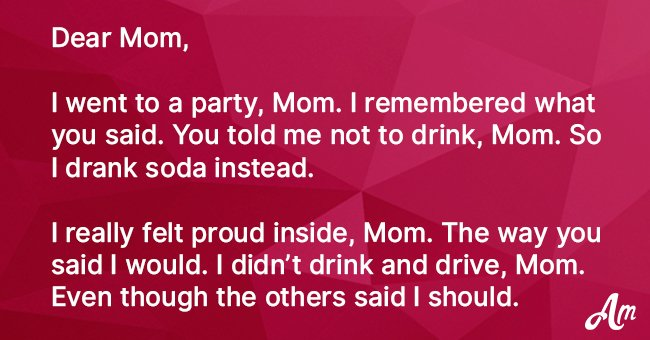 Girl Went to a Party and Did Just like Her Mom Said