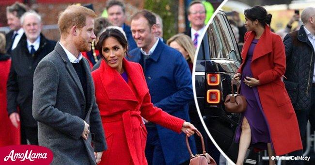 La sorprendente elección de color de la embarazada Meghan para primera salida con Harry en 2019