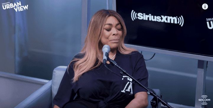 Wendy Williams getting emotional about her divorce to husband Kevin Hunter on The Karen Hunter Show | Photo: YouTube/SiriusXM