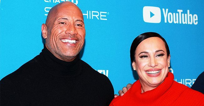 """Dwayne Johnson and Dany Garcia at the screening of """"Fighting With My Family"""" on January 28, 2019 