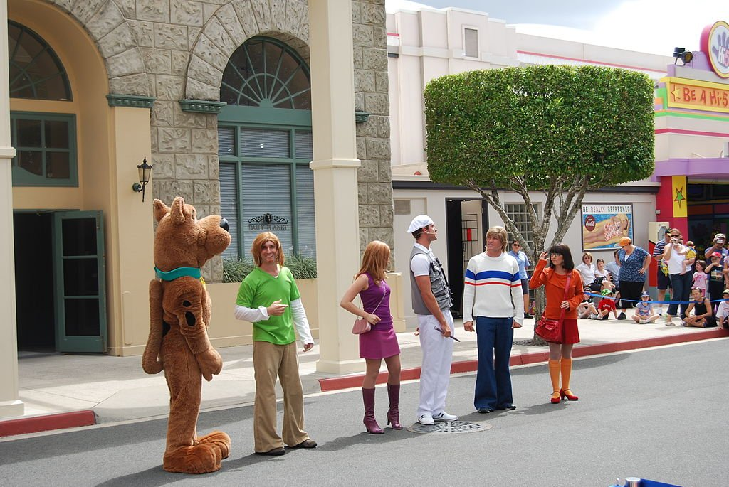 "People dressed up as the ""Scooby-Doo"" characters on March 22, 2008 