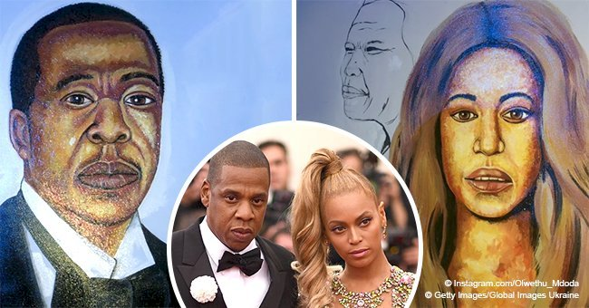 Celebrity artist Rasta mocked over 'not-so-accurate' paintings of Beyoncé and Jay-Z