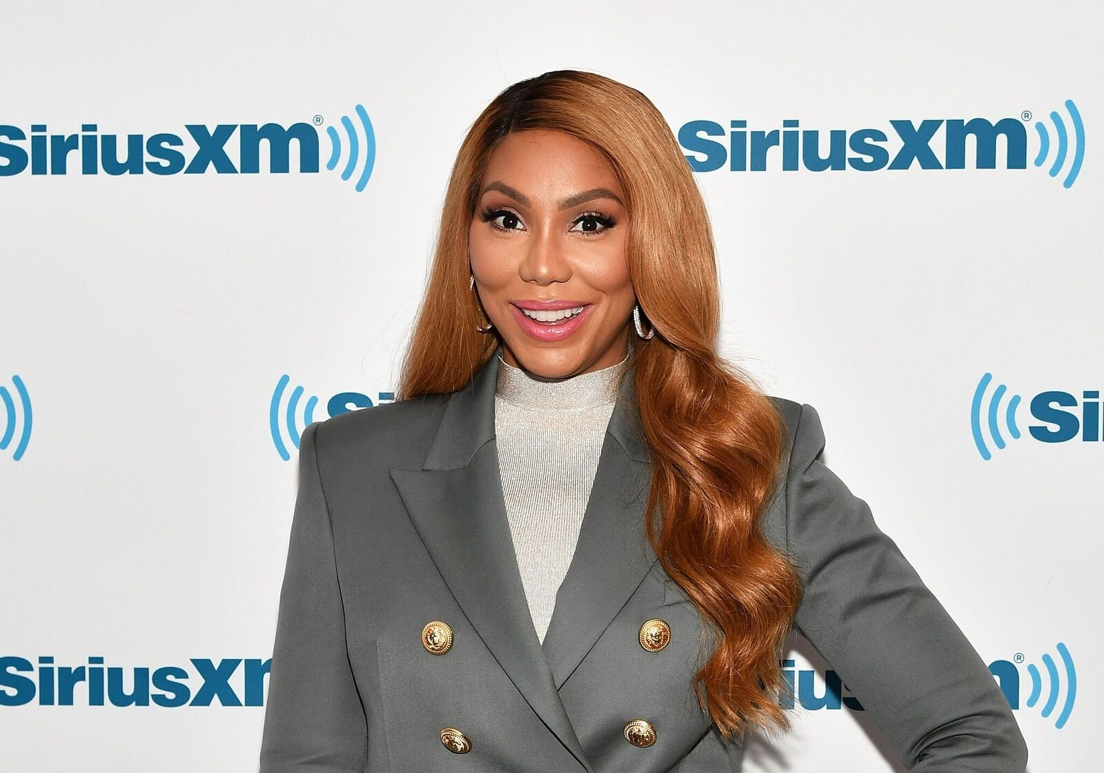 Singer/TV personality Tamar Braxton celebrates her birthday and Saint Patrick's Day at SiriusXM Studios on March 17, 2017 | Photo: Getty Images