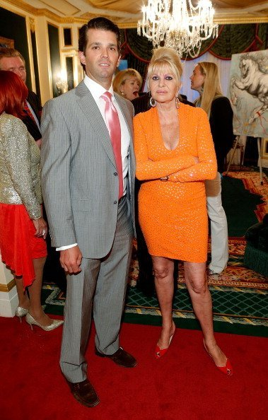 Donald Trump Jr. and Ivana Trump at the exhibition of artwork featuring Giovanni Perrone on April 30, 2013 in New York City | Photo: Getty Images