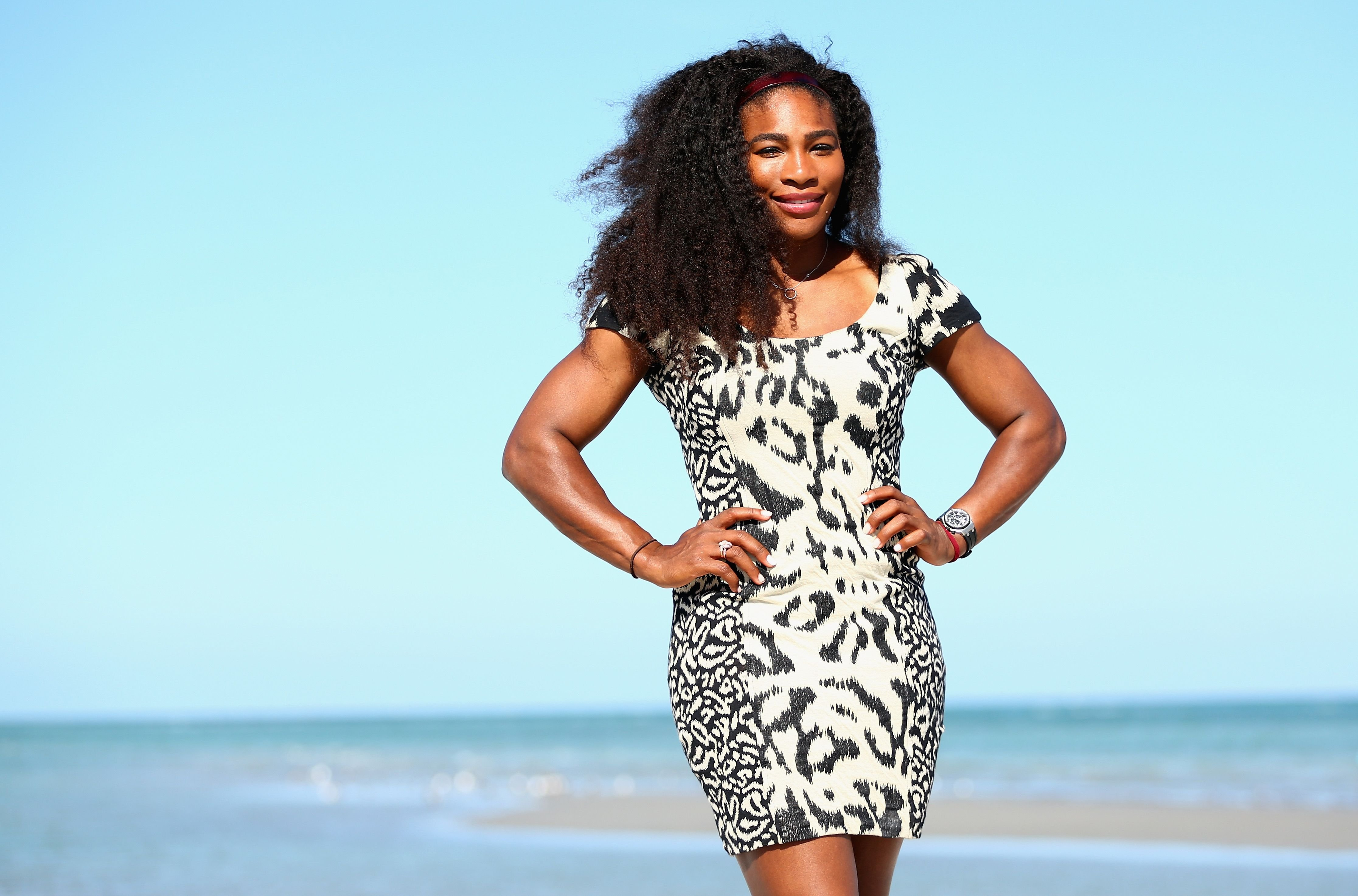 Serena Williams in Key Biscayne in Florida during the Miami Open Presented by Itau on April 4, 2015.   Source: Getty Images