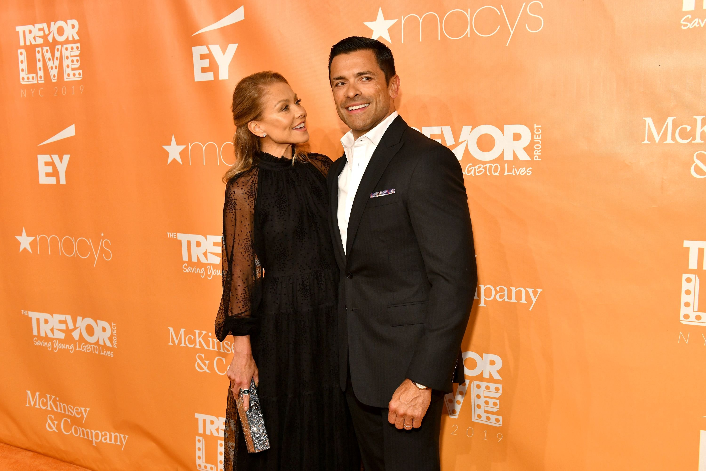Kelly Ripa and Mark Consuelos at the TrevorLIVE New York Gala on June 17, 2019, in New York City. | Source: Getty Images