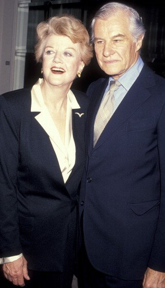 Actress Angela Lansbury and husband Peter Shaw attend Television Academy Gala Honoring Angela Lansbury on February 22, 1990 at the Beverly Hilton Hotel in Beverly Hills, California.| Photo: Getty Images