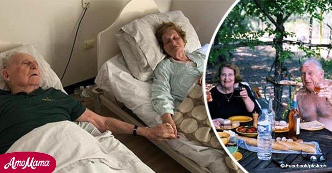 Paar das seit 70 Jahren verheiratet war, stirbt Hände haltend binnen Minuten voneinander