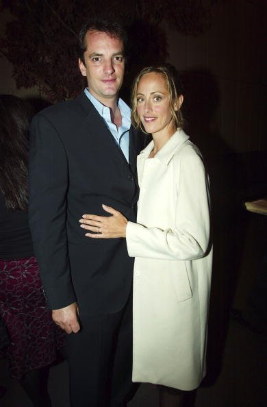 "Kim Raver and her husband Manuel Boyer attend a party to preview the new Mexican resort ""One & Only Palmilla"" and its new restaurant ""C"" at the Four Seasons Restaurant September 29, 2003, in New York City. 