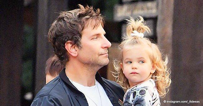 Bradley Cooper es el orgulloso papá de una pequeña hija que heredó toda la belleza de sus padres