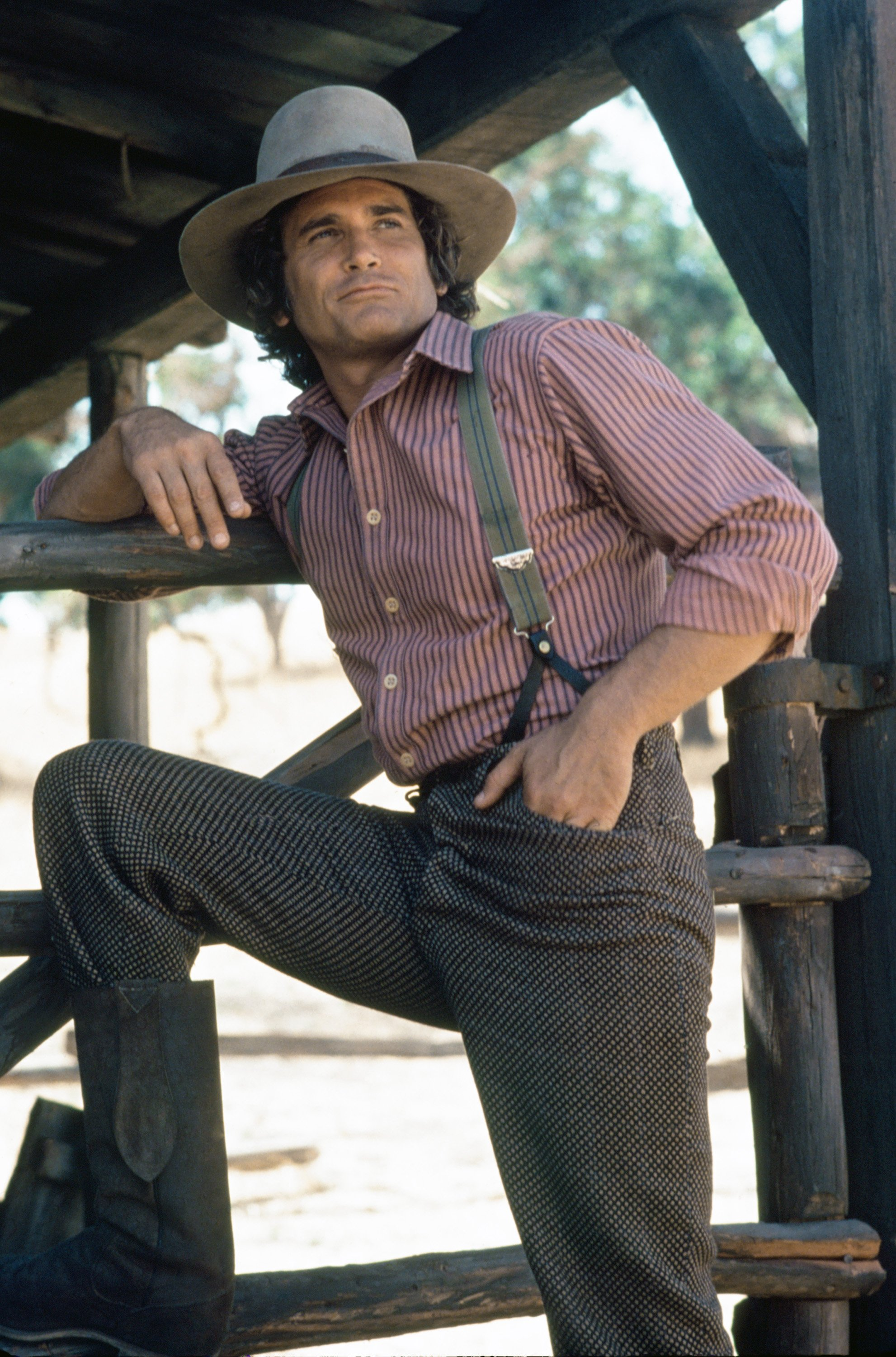"Michael Landon as Charles Philip Ingalls on ""Little House on the Prairie"" 