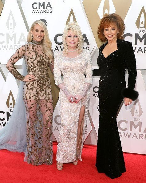 Carrie Underwood, Dolly Parton, and Reba McEntire attend the 53nd annual CMA Awards at Bridgestone Arena in Nashville, Tennessee | Photo: Getty Images