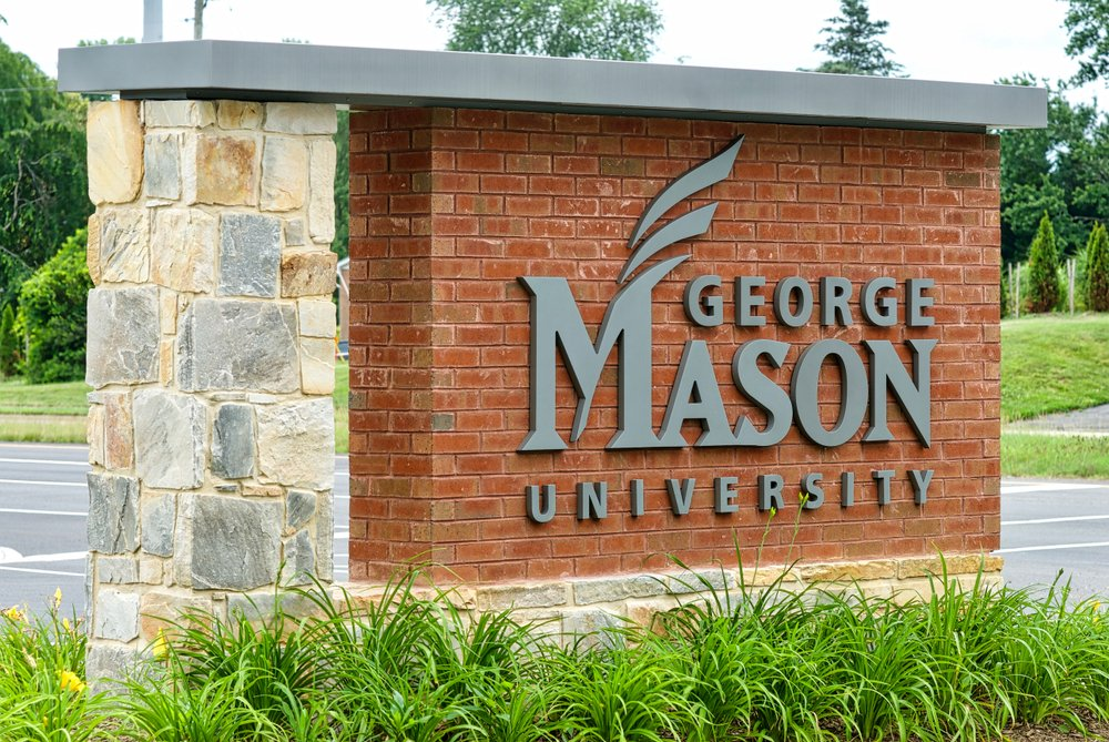 A photo of the entrance sign to George Mason University's West Campus   Photo: Shutterstock