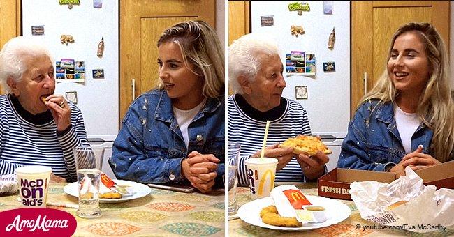 Une grand-mère de 83 ans essaie la restauration rapide pour la première fois et sa réaction hilarante devient virale